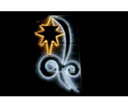 FLESI-LED-KN 001-240V-W/WW (LED 1STAR PATTERN MOTIF) LED STAR PATTERN MOTIF (РФ) 150х82см
