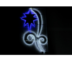 FLESI-LED-KN 001-240V-W/B (LED 1STAR PATTERN MOTIF) LED STAR PATTERN MOTIF (РФ) 150х82см